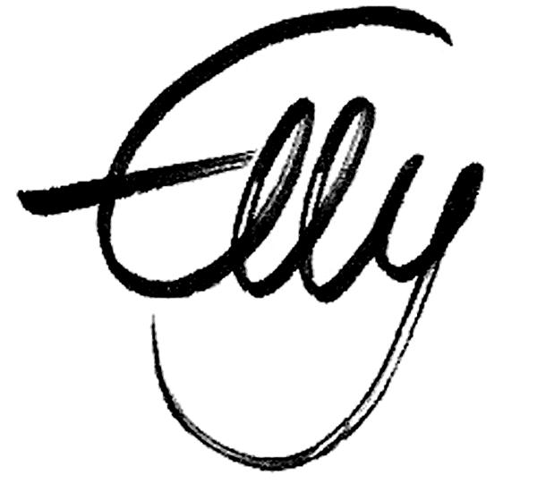 Ellys Unterschrift