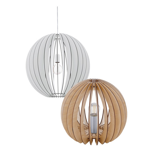 Deckenlampen rund aus Holz