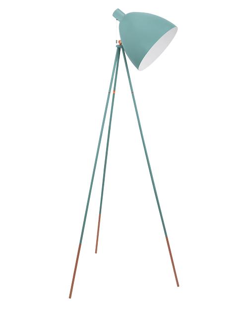 Stehlampe in Türkies