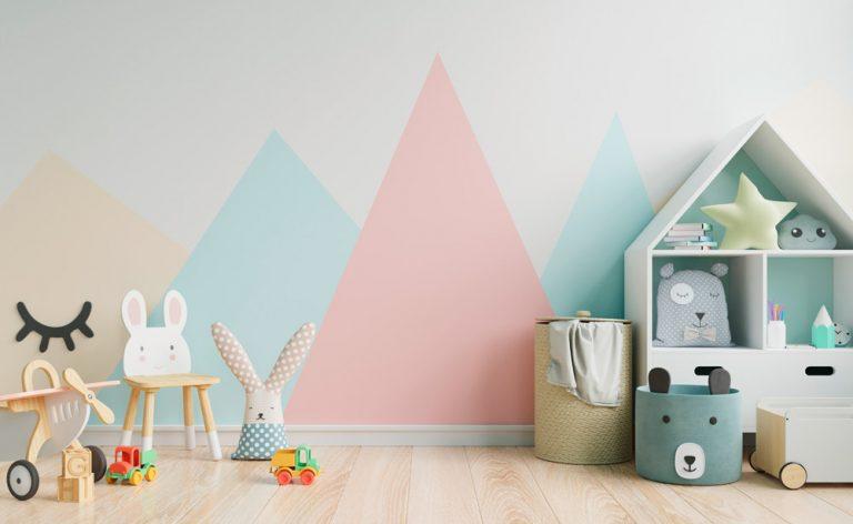 modernes Kinderzimmer in Pastellfarben