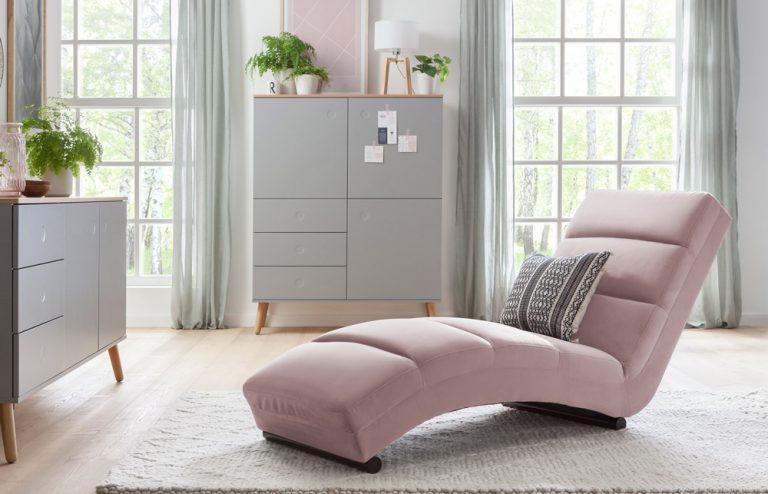 Relaxliege in Rosé