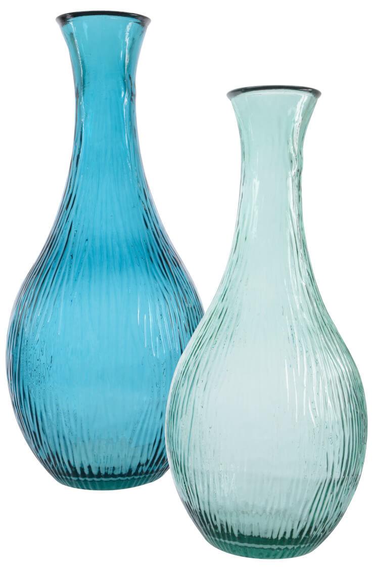 Blaue dekorative Glasvasen