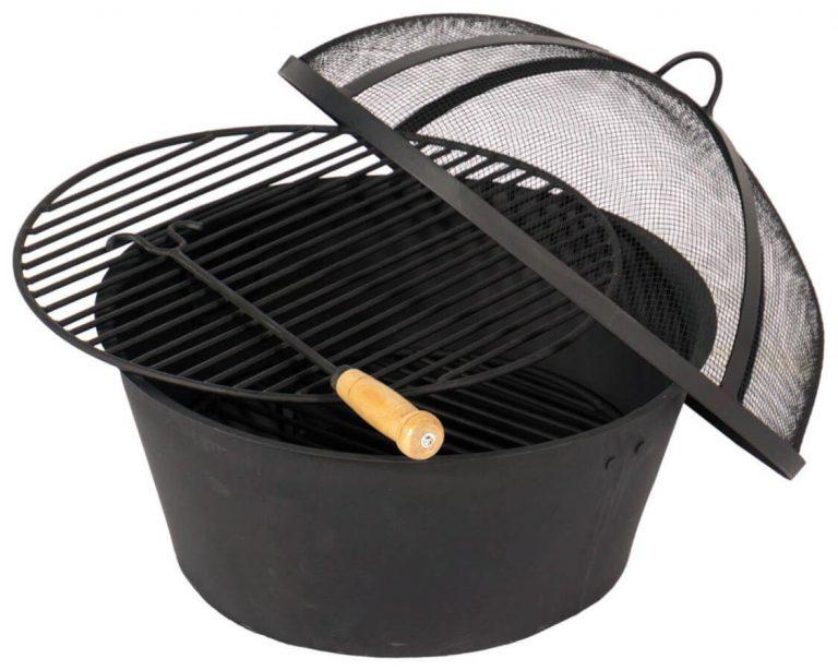 Mini-Grill in Schwarz