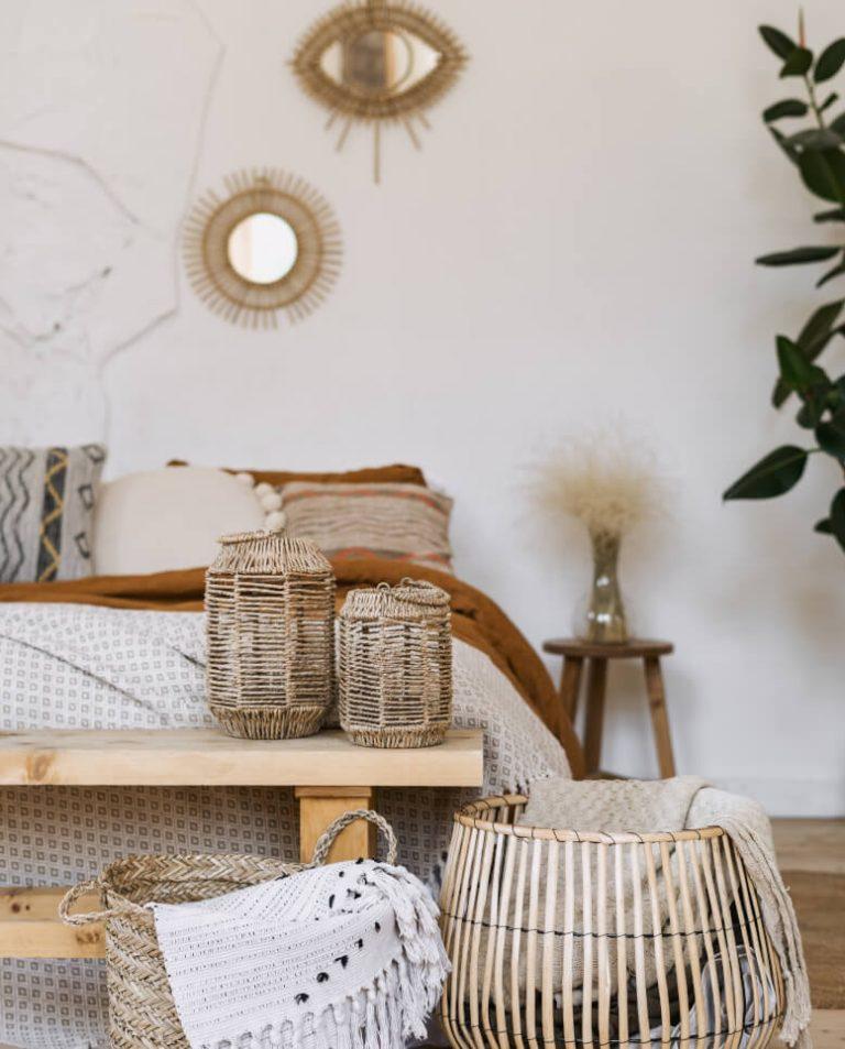 Körbe, Laternen und Wanddeko aus Rattan und Co