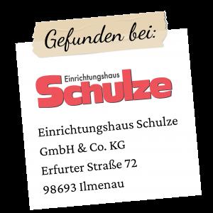 Schulze Logo mit Adresse Ilmenau