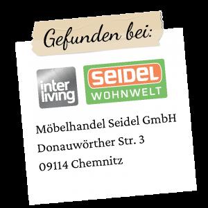 Seidel Logo mit Adresse Chemnitz