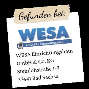 Wesa Logo mit Adresse