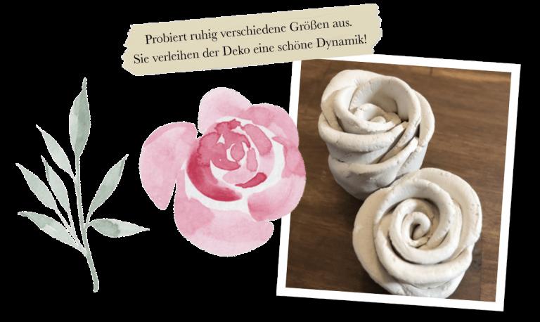 Tipp für Rosen basteln mit Bildern und Text