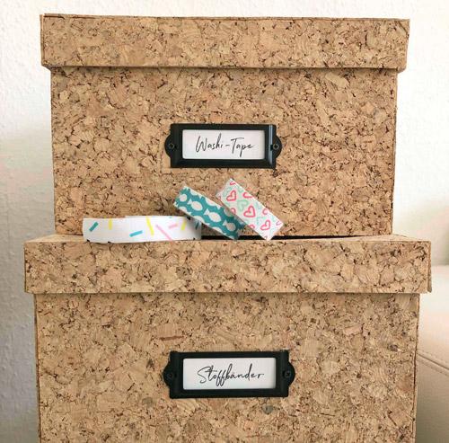DIY Boxen aus Korkplatten