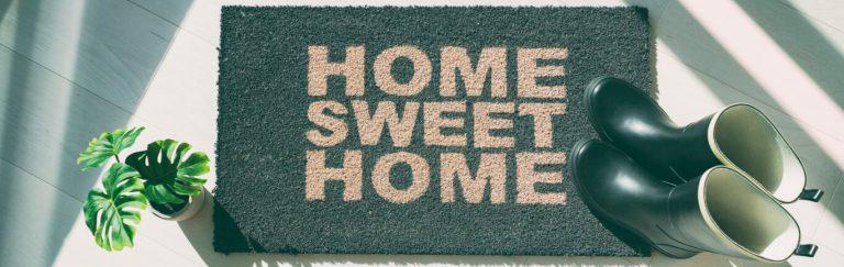 Fussmatte grün home sweet home