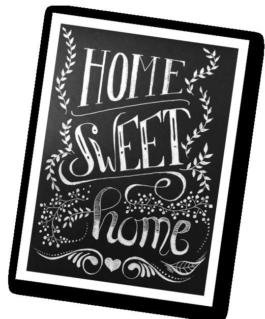 Tafel Home sweet home