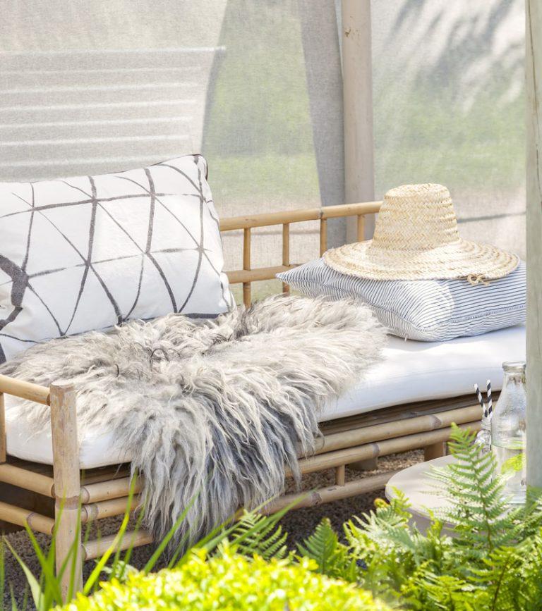 Outdoor Sofa aus Bambus
